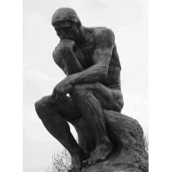 LS 312 Pensatore di Rodin su base h. cm. 210