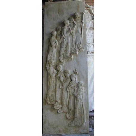 LR 153 Frati in processione h. cm. 250x70 circa