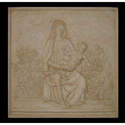 LR 146 Madonna del roseto h. cm. 59x59