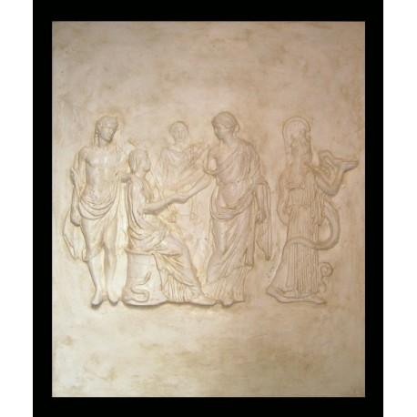 LR 138 Scena mitologica con figura seduta h. cm. 87×73