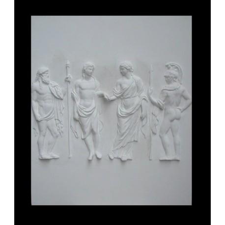 LR 137 Figure per mano con guardiani h. cm. 87×73