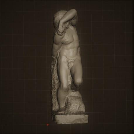Rid. 32 Schiavo Giovane h. cm. 70 – Galleria dell'Accademia Firenze.