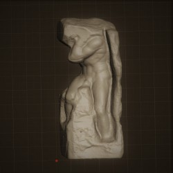 Rid. 33 Schiavo Atlante h. cm. 70 – Galleria dell'Accademia Firenze.
