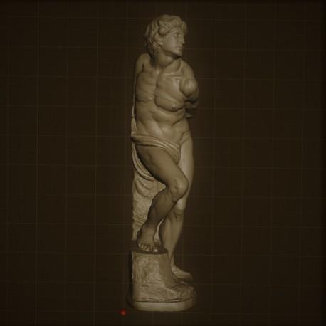 Rid. 30 Schiavo Ribelle h. cm.70 – Museo del Louvre.