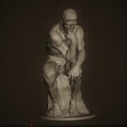 RID. 03 Il Pensatore h. cm. 40 – Musèe Rodin.