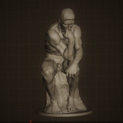 RID. 03 Il Pensatore h. cm. 44 – Musèe Rodin.