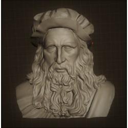 LB 328 Testa Leonardo da Vinci h. cm. 100